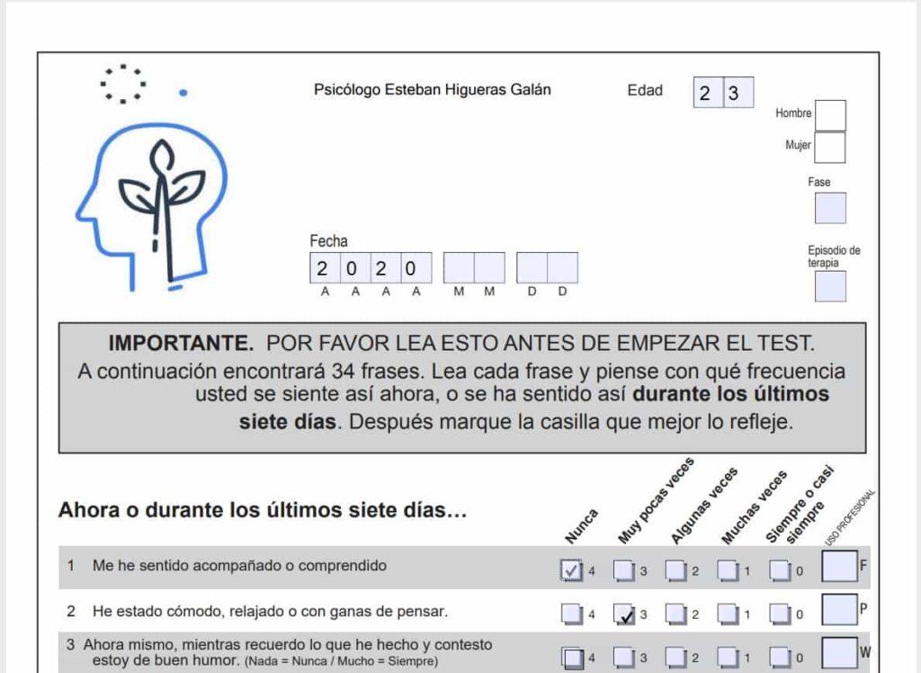Test psicológico pdf