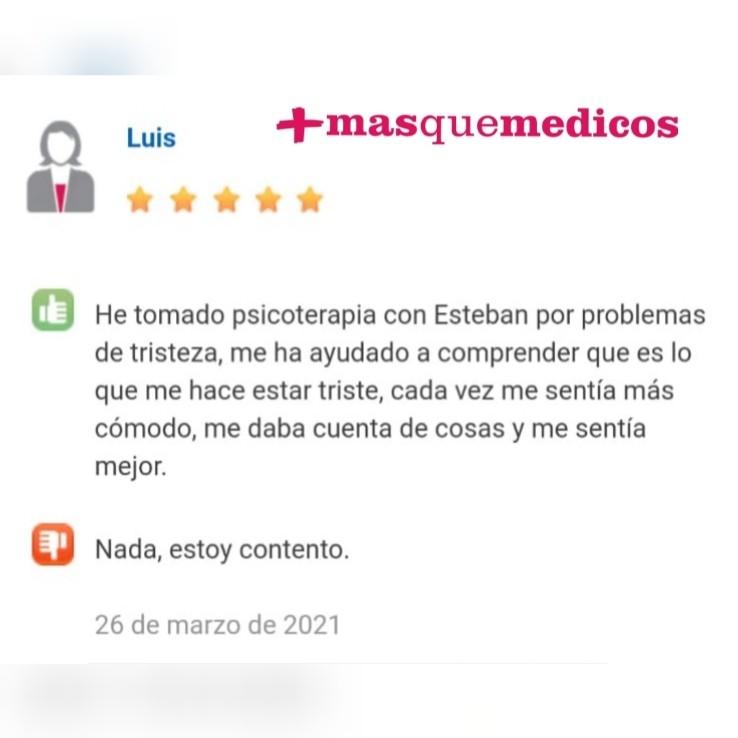 Luis opinión en Masquemedicos